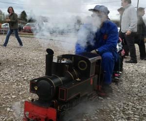 Mini train fête de la vapeur